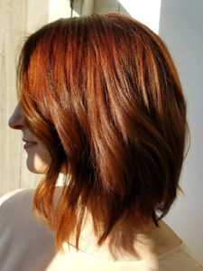 Naturally beautiful red hair