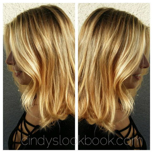 Champagne Balayage! Delicate, soft highlights handpainted!